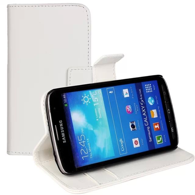 Hot selling flip leather cover case for Samsung Galaxy S4 Active I9295