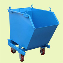 Industrial waste storage bin rack metal skip scrap bins