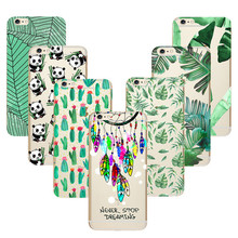 High quality Green Cactus Panada Dreamcatcher Soft TPU Case for iPhone 8 X 7 7plus 6s Plus