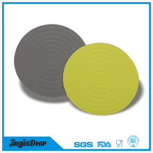 Amazing Durable Table Heat Resistant Silicone Round Cup Coaster Mat