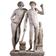 Western Garden White Marble Male Nude Sculpture