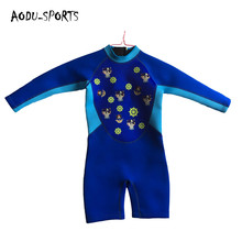 High quality long sleeve shorts waterproof boy baby wetsuit