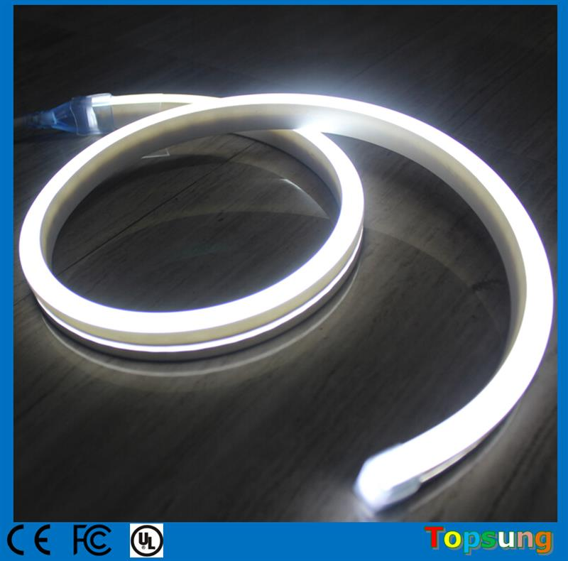 High quality 20m 110V spool flexible strip white Flat ultra thin soft led neon lighting neon-flex rope 11x19mm