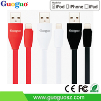 2016 MFi Certified Flat USB Mini 8 pin usb Cable for iphone 5 iPhone6 for Apple cable from MFi Manufacturer