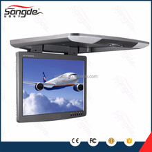 15.6 inch bus roof mounted flip down led monitor in car video with USB SD