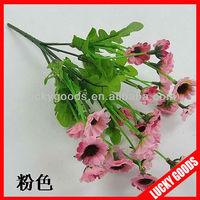 pink color cheap silk daisy flowers bush