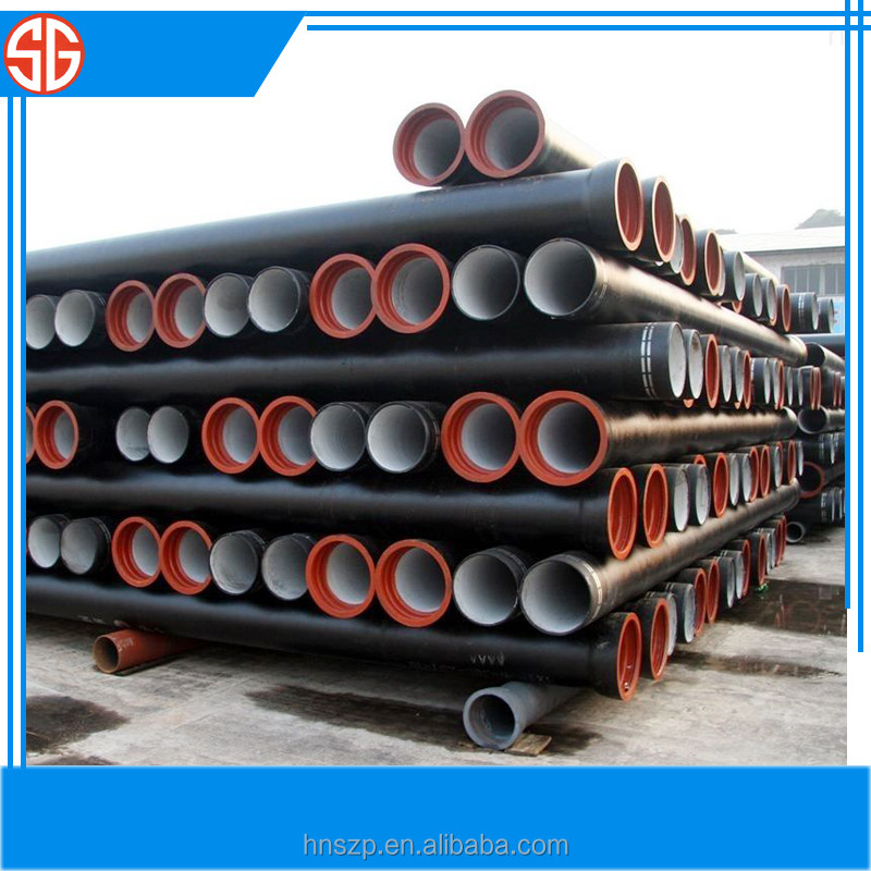 China supplier ductile iron pipes and fittings pipelines
