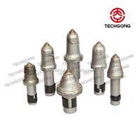 round shank rotary conical pick and drill cutter bit for mining and drilling