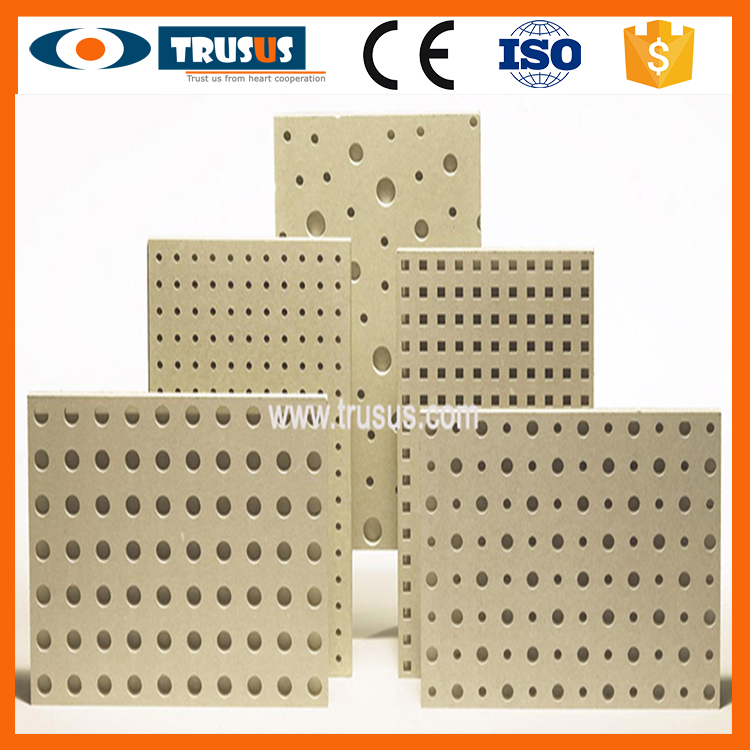 Wood Fiber Reinforced Factory Gypsum Perforated Ceiling Board