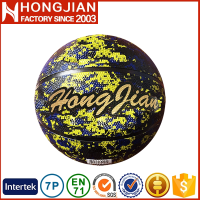 HB038 2016 standard hot sale rubber basketball