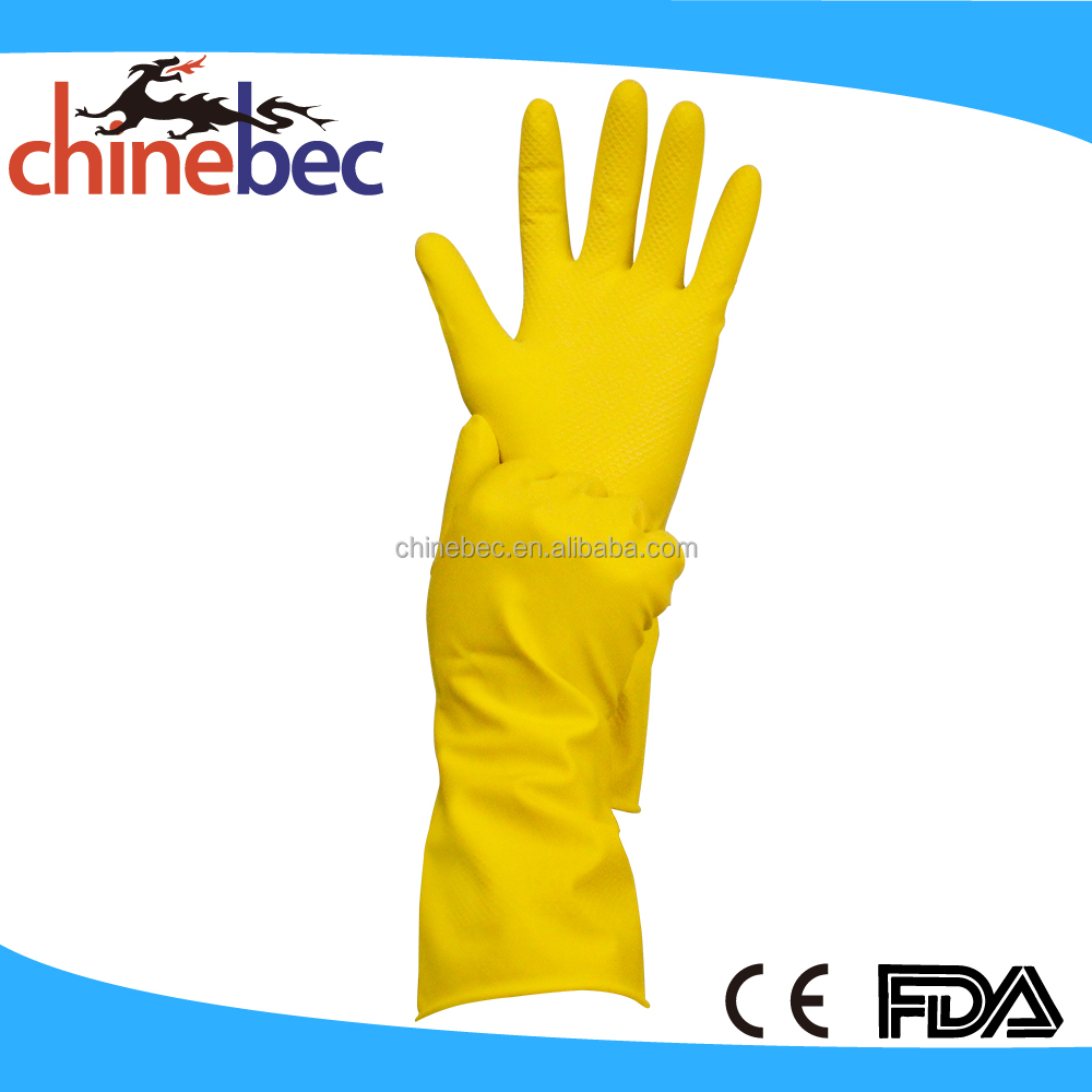 Extra Long Household Rubber Latex Cleaning Gloves/Pet Washing Gloves