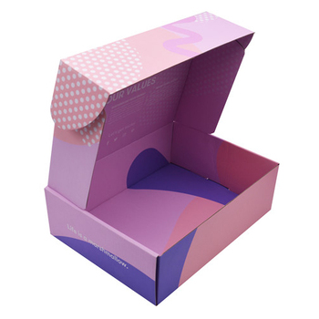 Professional box suppliers waterproof foldadble hair care product packaging shipping corrugated paper box for men's clothing