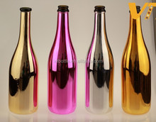 Electroplated colored champagne bottle gold spirits bottle sparkling wine bottle