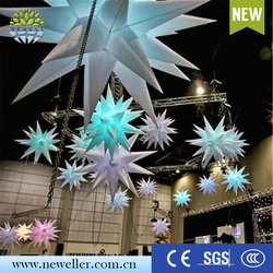 Hot sale 2016 children's party decoration inflatable star purple with logo