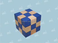 colored magic cube Snake Cube Brain Teaser Cube block Wooden Puzzle