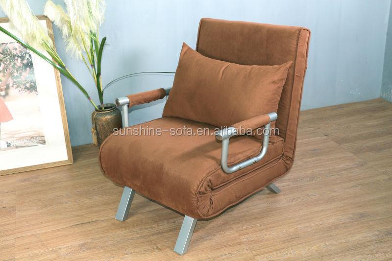 Single Chair Sofa Bed Microfiber Recliner Futon Sleeper