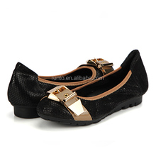Top choice MOQ one pair metal stock shoes with black color women leisure shoes