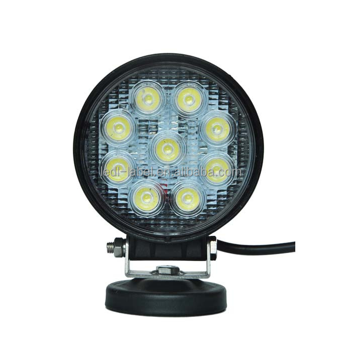 "Wholesale 4"" led work light, 4 inch 27 watt led off road light spot/flood beam led working lights for marine,offroad"