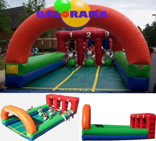 inflatable horse racing, inflatable horse race