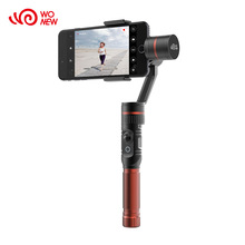 Wonew 360 degree limitless panning camera bluetooth 3 axis phone gimbal stabilizer
