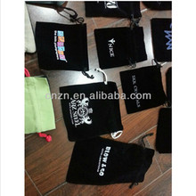 fashion high quality small velvet drawing black gift bags