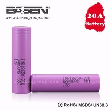 2016 New Arrivals for samsung SDI 18650 battery INR18650 30Q 3000mAh 15a battery li-ion cell