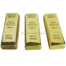 Hot Golden bar shape 4GB usb flash driver with best price