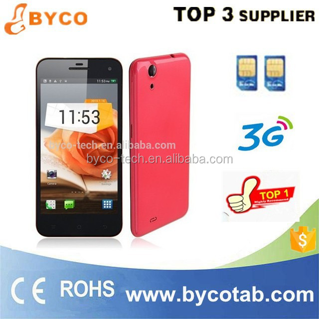 Description mobilephone quad core 5.0inch 3g android 4.3 cellphone