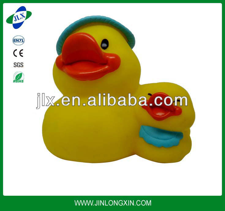 Yellow Rubber Duck Swimming Toy 1 Mother 1 Kids Baby Bath floating duck
