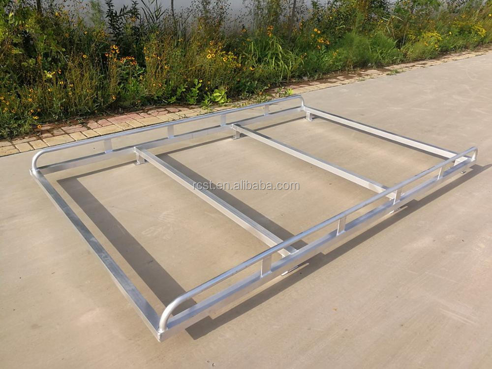 Overhang Cab Rack Silver 2400x1600mm (LxW) for Dual Cab UTE Canopy, Alloy Rack