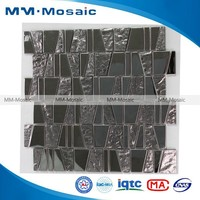 MM Mosaic trapezoidal silver plating stainless steel mosaic tile