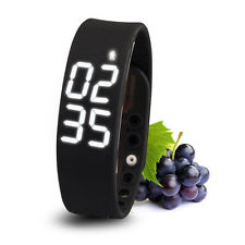 wrist pedometer smart watch wristband bracelet