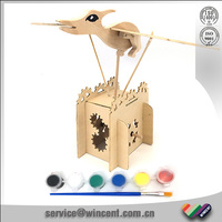 DIY wooden material Flying bird of new toy for kids