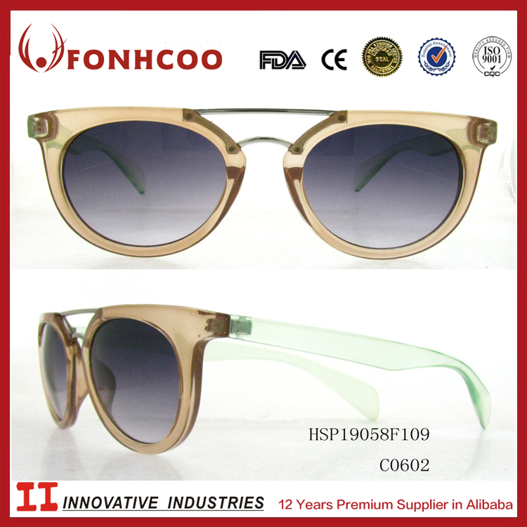 FONHCOO Classic Plastic Transparent Full Frame With Double Metal Bridge Variety Sunglasses