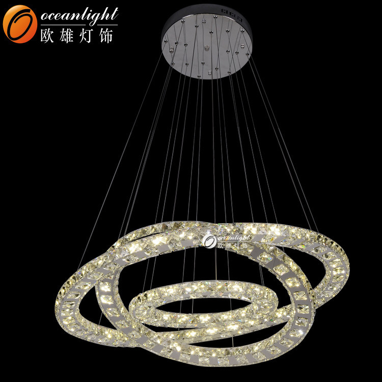 non electric chandelier crystal flat chandelier light om88013