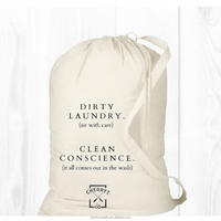 China wholesale promotional recyclable natural cotton laundry bag with base
