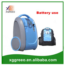 COXTO Home Car Travel 1L-5L 90% Adjust Medical Oxygen Concentrator Generator Portable with Battery Car Adpator Carry Bag Trolley