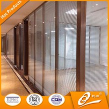 china manufacturer aluminium office partition glass wall for meeting halls