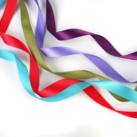 "5/8"" Single Face 100% Polyester Rainbow Satin Ribbons"