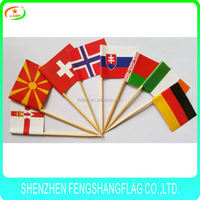 Food flag picks ,h0t148 paper flag with stick , customized shape toothpick flags