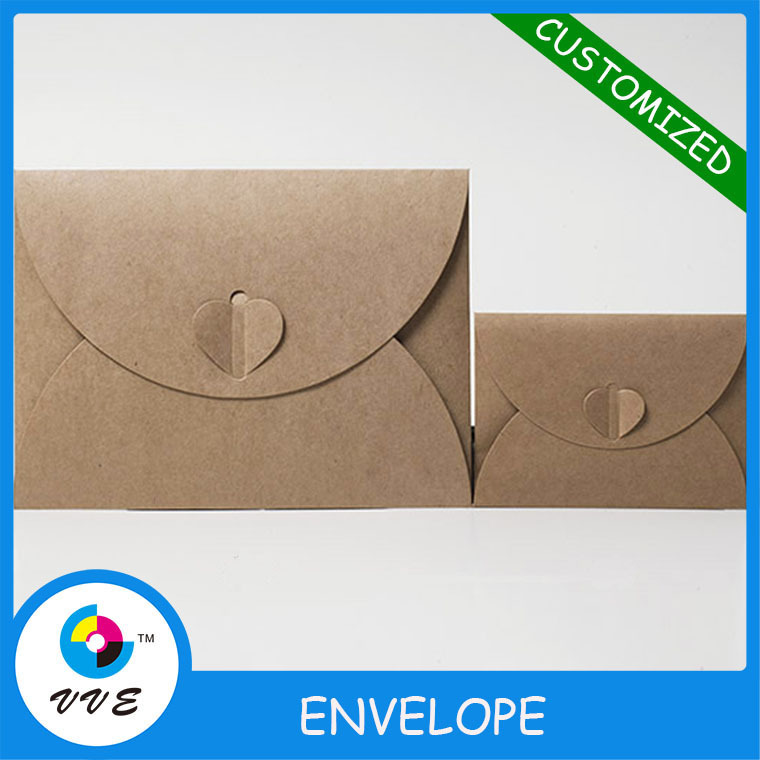 Custom Pearl Paper Envelopes With Heart Knot Blank Gift Envelope Wedding Invitation Envelopes