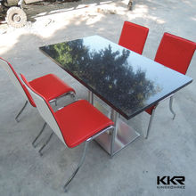 Hot selling in Dubai solid surface modern restaurant tables and chairs