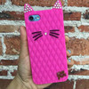 New Fashion Lovely Cat Soft Silicon Rubber Cover Phone Case for Various Cell Phones