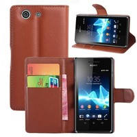 Fashionable Cool Wallet Stand Cover Flip PU Leather Case For Sony Z3 Mini