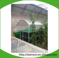 new solar greenhouse mini size assembly soft pvc biogas plant/digester for cooking