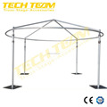 curved aluminum portable pipe and drape