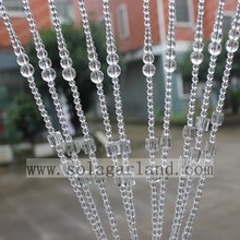 Latest Fashion Design Transparent Acrylic Crystal Handmade Beaded Curtains For Hotel/Club/Party/Wedding/Home Decor