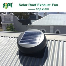 Powerless roof top exhaust venting fan for big tent DC brushless motor solar extractor fan solar energy ceilling roof fan