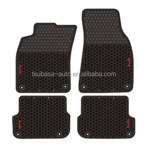Customized logo car lift rubber polishing pad hair salon floor mats for AUDI A6 2004 to 2011