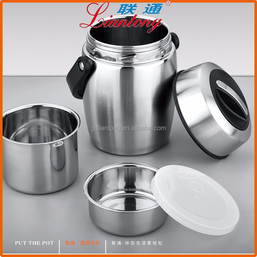 thermo food warmer with two inner cases, 1.2L 1.5L 1.8L thermal soup pot